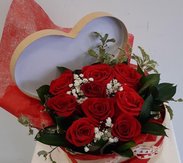 regalar flores en san valentín floristeria emprey
