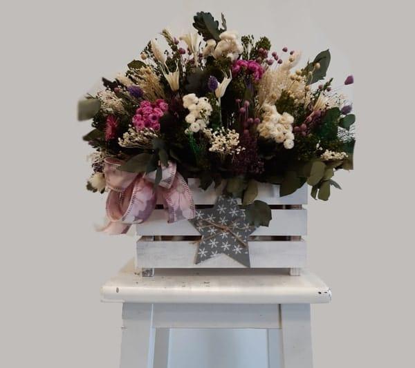 caja de flores preservadas en Zaragoza