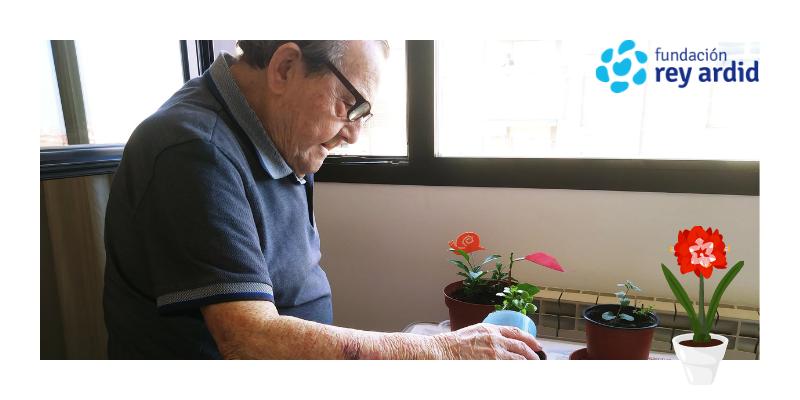 Terapia ocupacional para personas mayores en la Fundación Rey Ardid