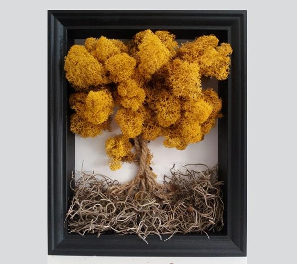 cuadro de flor preservadas